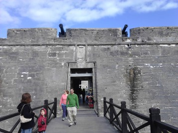 Outside the Castillo de San Marcos