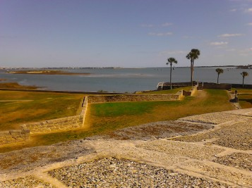 View from the top of the Castillo de San Marcos